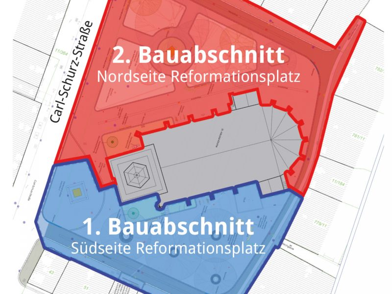 Bauabschnitte am Reformationsplatz