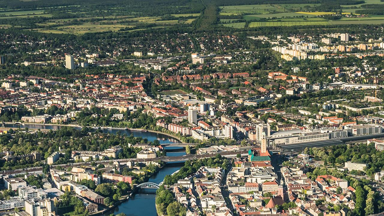 Luftaufnahme von Spandau