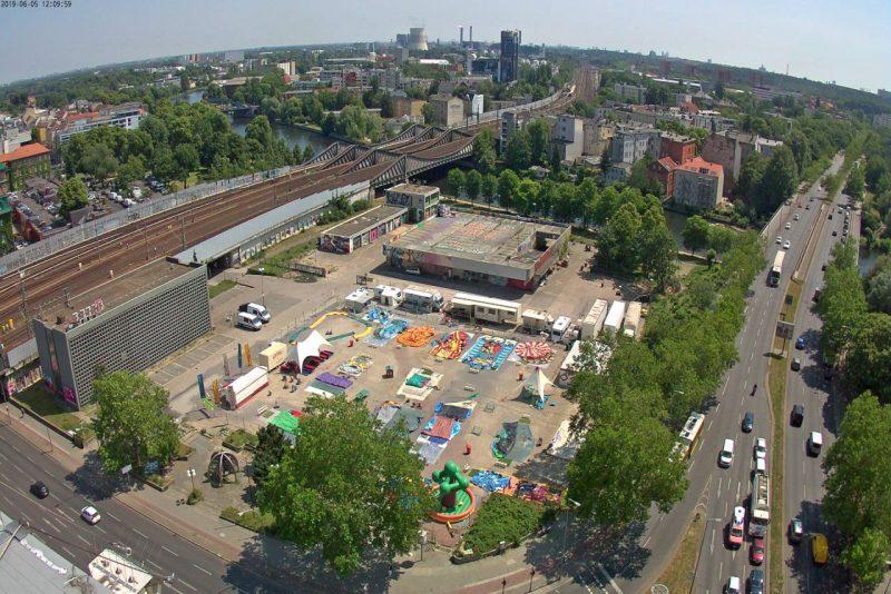 Webcam-Foto des Geländes im Juni 2019