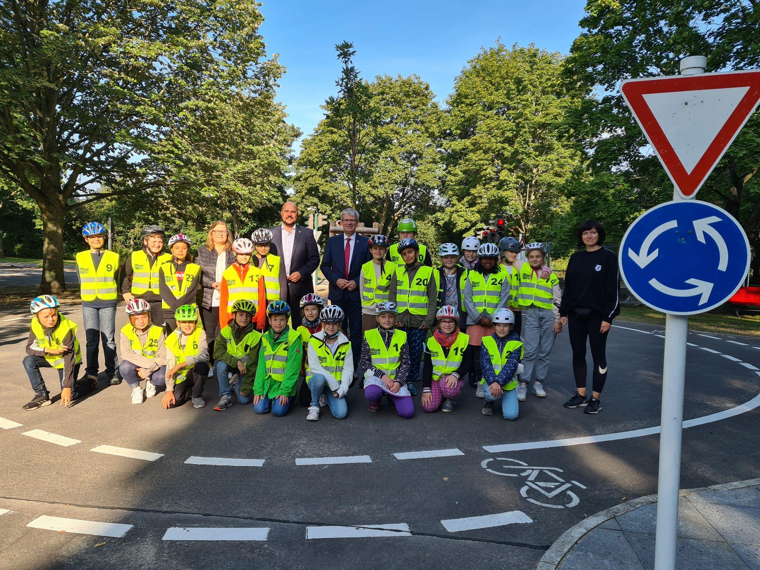 Fahrbahnsanierung in der Jugendverkehrsschule Borkzeile abgeschlossen